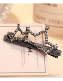 Fashion Gray Crown Shape Decorated Hair Clip