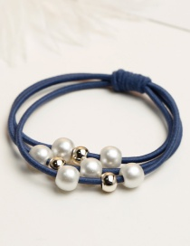 Fashion Blue+black Pure Color Decorated Hair Band