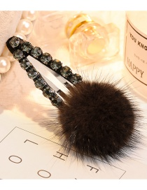 Lovely Light Brown Fuzzy Ball Decorated Pom Hairpin