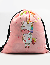 Lovely Pink Unicorn Pattern Decorated Backpack