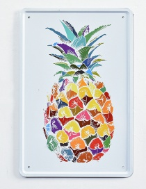 Fashion Multi-color Pineapple Pattern Decorated Hang Painting