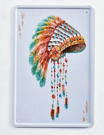 Fashion Multi-color Hat Pattern Decorated Hang Painting