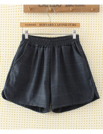 Fashion Black Square Pattern Decorated Shorts