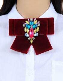 Elegant Multi-color Color-matching Decorated Brooch