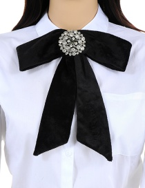 Elegant Black Bowknot Shape Decorated Necklace