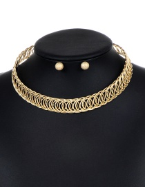 Elegant Gold Color Hollow Out Decorated Jewelry Sets