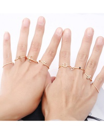 Fashion Gold Color Star&bird Shape Decorated Ring