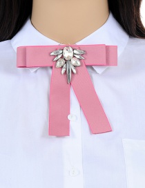 Elegant Pink Bowknot Shape Decorated Brooch