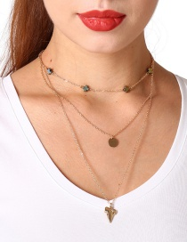 Fashion Gold Color Cross Decorated Necklace