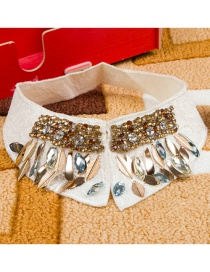 Fashion White Diamond Decorated Fake Collar