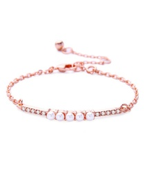 Fashion Pink Pure Color Decorated Bracelet