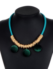 Fashion Green Pom Ball Decorated Necklace
