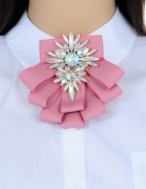 Fashion Multi-color Flower Shape Decorated Bowknot Brooch