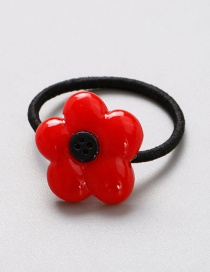 Lovely Red Flower Shape Decorated Baby Hair Band