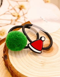 Lovely Red+green Hat Shape Decorated Christmas Hair Band (1pair)