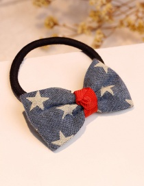 Fashion Blue Star Shape Decorated Bowknot Hair Band