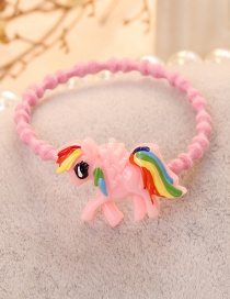 Lovely Pink Pegasus Shape Decorated Hair Band