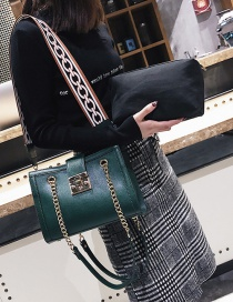 Fashion Green Buckle Decorated Pure Color Bags (2pcs)