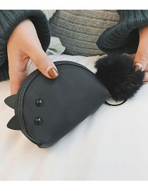 Fashion Black Mouse Shape Decorated Wallet