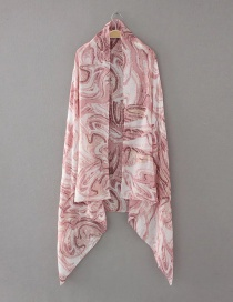 Elegant Pink Color-matching Decorated Scarf