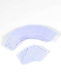 Fashion White Square Shape Design Simple Card(100pcs)