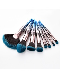 Fashion Blue Color-matching Decorated Brushes (8pcs)