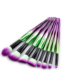 Fashion Purple Color-matching Decorated Brushes(8pcs)