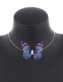 Fashion Blue Butterfly Shape Decorated Choker