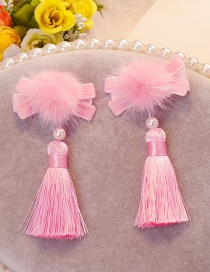Lovely Pink Tassel Decorated Hair Clip