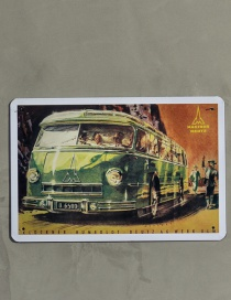 Fashion Green Bus Pattern Decorated Ornament