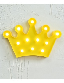 Lovely Yellow Crown Shape Decorated Lighting