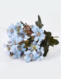 Lovely Light Blue Flower Shape Decorated Ornament