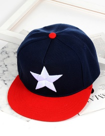 Fashion Navy Star Pattern Decorated Cap