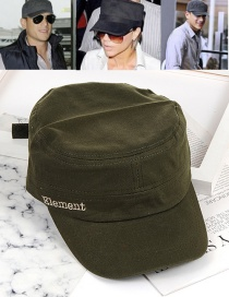 Fashion Olive Green Letter Decorated Cap