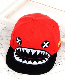 Fashion Red Color Matching Decorated Cap