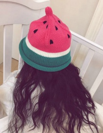 Fashion Red Watermelon Shape Decorated Hat