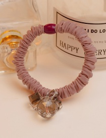 Lovely Pink Square Shape Diamond Decorated Hair Band