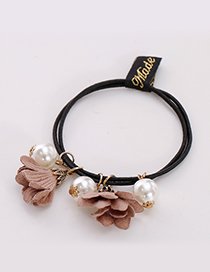 Fashion Pink Three Flowers Shape Decorated Hair Band