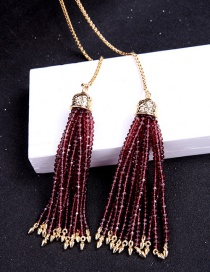 Fashion Purple Bead Decorated Necklace