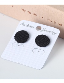 Trendy Black Pure Color Decorated Round Shape Earrings