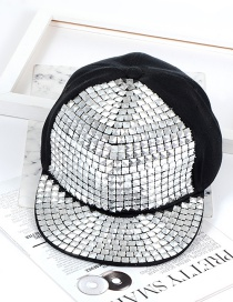 Fashion Silver Color Square Shape Decorated Hat