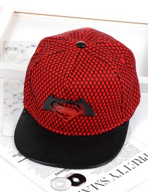 Fashion Red Super Man Shape Decorated Hat