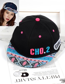 Fashion Black Printing Pattern Decorated Hat
