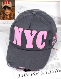Fashion Black Letter Shape Decorated Hat
