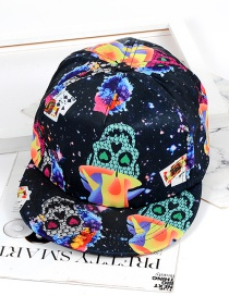 Fashion Multi-color Skull Pattern Decorated Hat