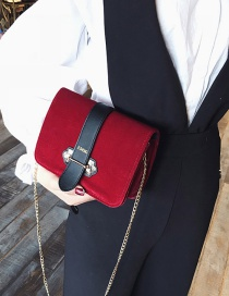 Fashion Red Color-matching Decorated Bag