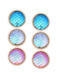 Fashion Multi-color Color-matching Decorated Earrings