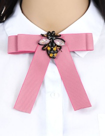 Fashion Pink Bee Shape Decortaed Brooch
