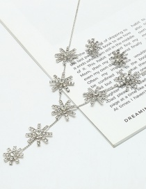 Elegant Silver Color Snowflake Shape Decorated Jewelry Sets