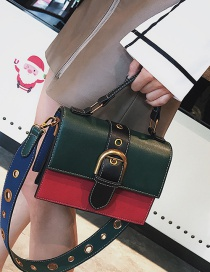 Fashion Green Rivet Shape Decoprated Bag
